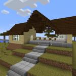 Minecraft 田舎にありそうなほのぼのした駅作り