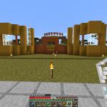 Minecraft メサの建材を使った図書館の建築<前編>