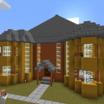 Minecraft メサの建材を使った図書館の建築<後編>