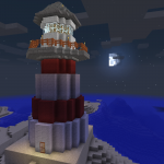 Minecraft 海には必須の建物!?灯台を建てる