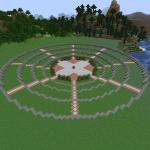 Minecraft 円を使ったおしゃれな中央公園を作る Part1