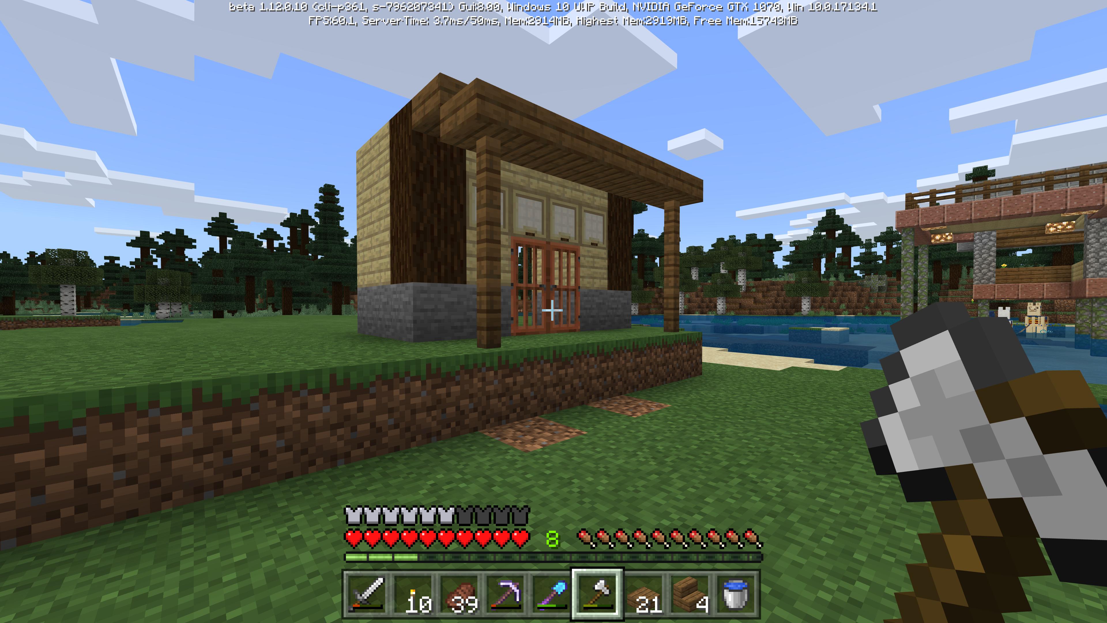 Minecraft 縁側の似合うお家が作りたい!初めての和風建築に