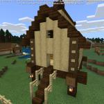 Minecraft 畑の雰囲気づくりに一役買う高床式倉庫