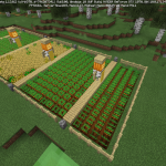 Minecraft かわいいカカシ付きの畑作り