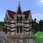 Minecraft 本気の洋館作り!屋根の形にもこだわろう<中編>